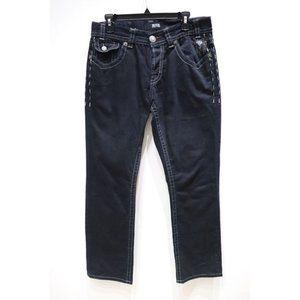 Mek denim mens 32 boston straight jeans button fly